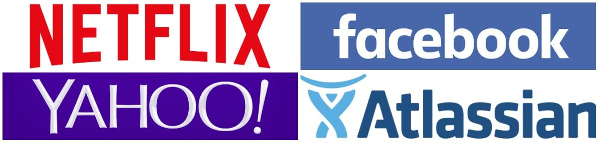 companies using react native: Atlassian, Yahoo, Facebook, Netflix